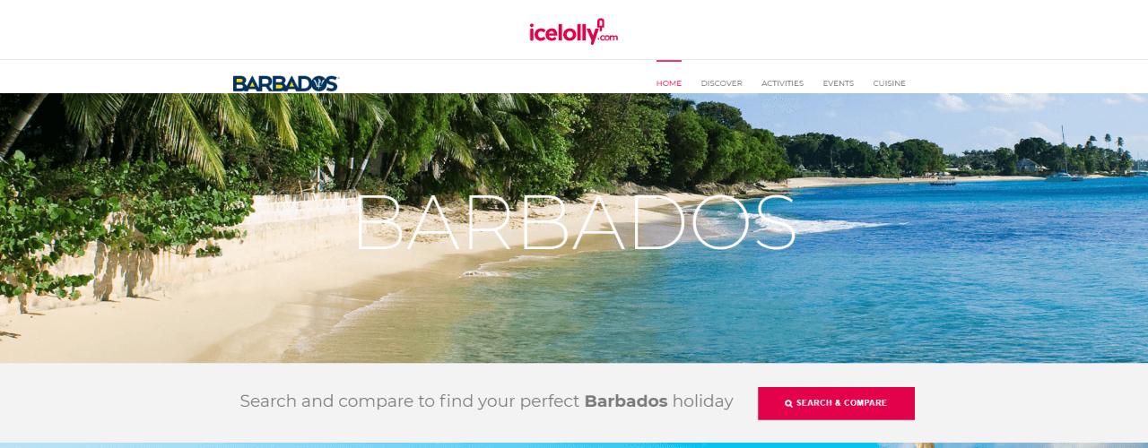 Bespoke Barbados microsite